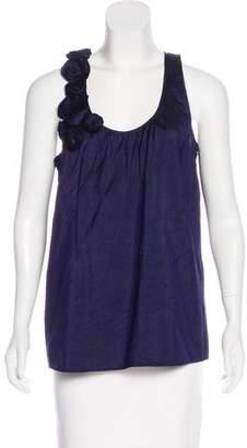 Calypso Silk Appliqué Top