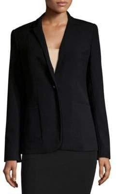 T Tahari Button-Front Blazer
