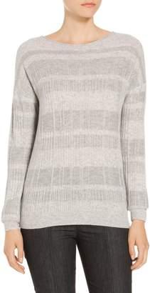 St. John Cashmere Wool Blend Rib Knit Sweater
