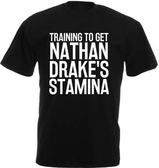 Drakes Brand88 Training to Get Nathan Drake's Stamina, Mens Printed T-Shirt - Black/White L