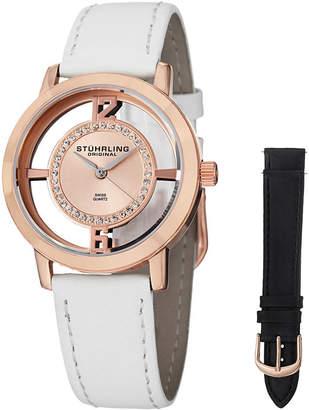 Stuhrling Original Womens White Strap Watch-Sp14654
