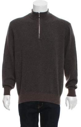 Loro Piana Roadster Pull Cashmere Zip-Up Sweater