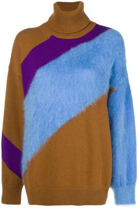 No.21 oversized roll neck sweater