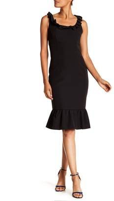 Nanette Lepore NANETTE Ruffle Trim Solid Dress