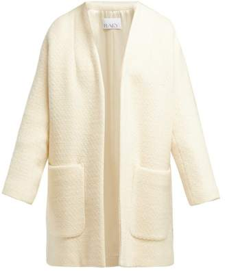 Raey Collarless Wool Boucle Coat - Womens - Ivory