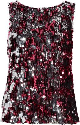 Tanya Taylor Two Tone Sequin Gabby Top