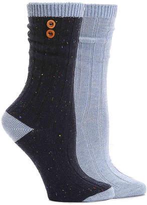 Steve Madden Button Boot Socks - 2 Pack - Women's