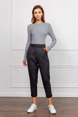 J.ING Tessa Tapered Grey Cropped Trousers