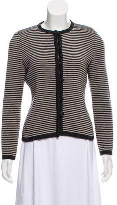 Akris Wool Striped Cardigan