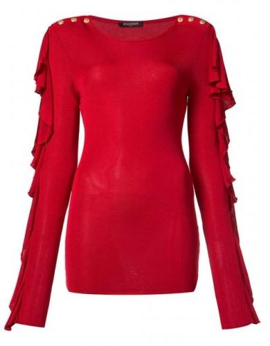 BalmainBalmain Embellished wool and cashmere-blend sweater
