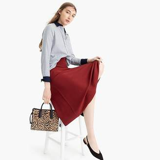 A-line midi sweater skirt