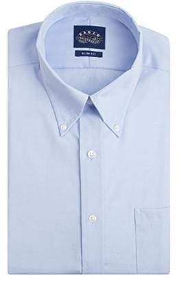 Eagle Men's Non Iron Slim Fit Solid Button Down Collar Dress Shirt