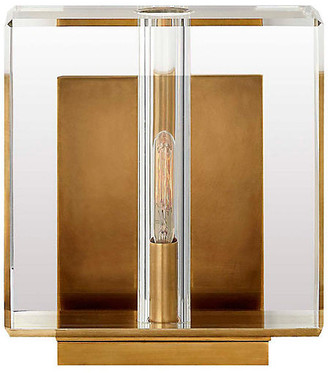 Visual Comfort & Co. Ambar Small Crystal Sconce - Antiqued Brass