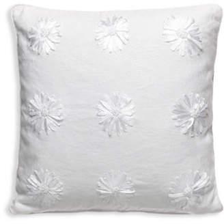 Kate Spade Ribbon Blossom Linen-Blend Pillow