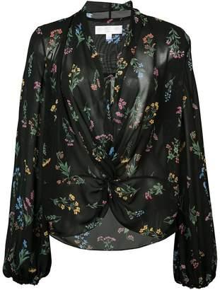Caroline Constas sheer floral print blouse