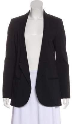 Tibi Peak-Lapel Long Sleeve Blazers