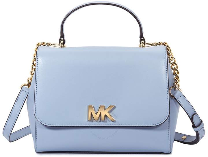 Michael Kors Mott Medium Leather Satchel- Pale Blue - ONE COLOR - STYLE