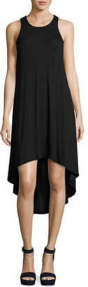 Luxe by Lisa Vogel Liquid by Luxe High-Low Coverup Dress, Black $94 thestylecure.com