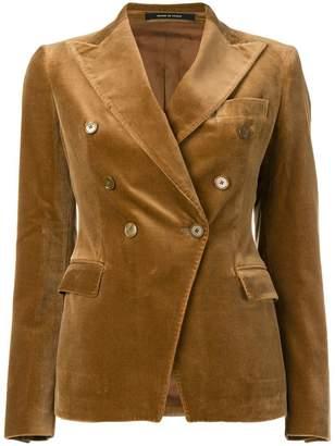 Tagliatore velvet double breasted blazer