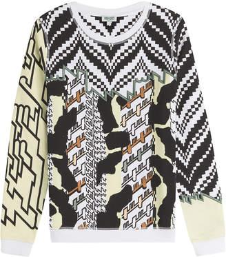 Kenzo Embroidered Print Cotton Sweatshirt
