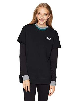 Fox Women's Flat Track Cut Off Crew Fleece