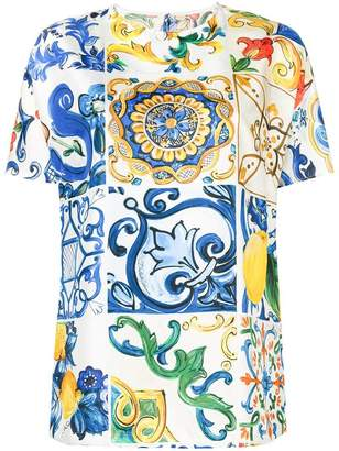 Dolce & Gabbana Majolica print top