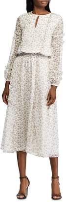 Ralph Lauren Long-Sleeve Floral-Print Dress