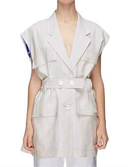 CHRISTOPHER ESBER Sleeve Less Belted Vest Top