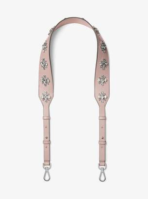 MICHAEL Michael Kors Floral-Embellished Leather Shoulder Strap