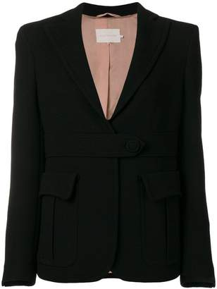 L'Autre Chose waistband fitted jacket