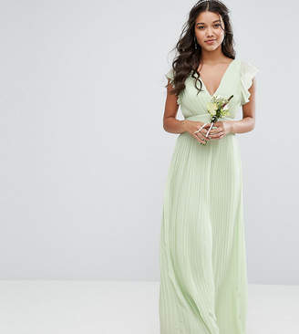 TFNC WEDDING V Front Maxi Dress with Frill Sleeves