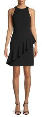 Aidan Mattox Draped Ruffle Dress