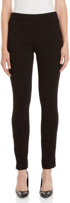 Premise Studio Black Plaid Pull-On Pants