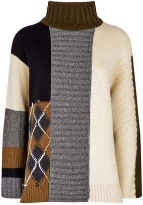 Pringle Patchwork Rollneck Sweater