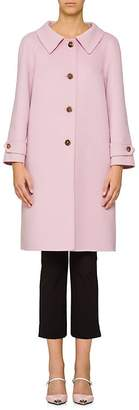 Prada Women's Collared Wool-Blend Coat