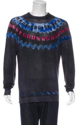 Giorgio Armani Printed Knit Sweater