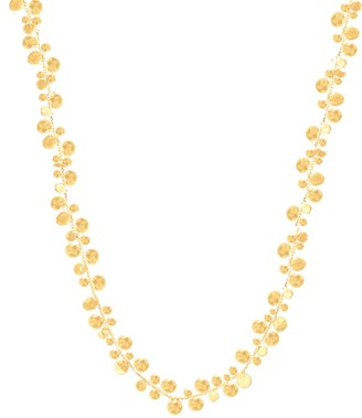 Lily Flo Jewellery Stardust Cluster Of Stars Necklace In Solid Gold