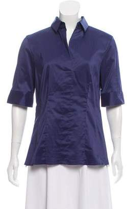 HUGO BOSS Boss by Pointed Collar Short Sleeve Top w/ Tags