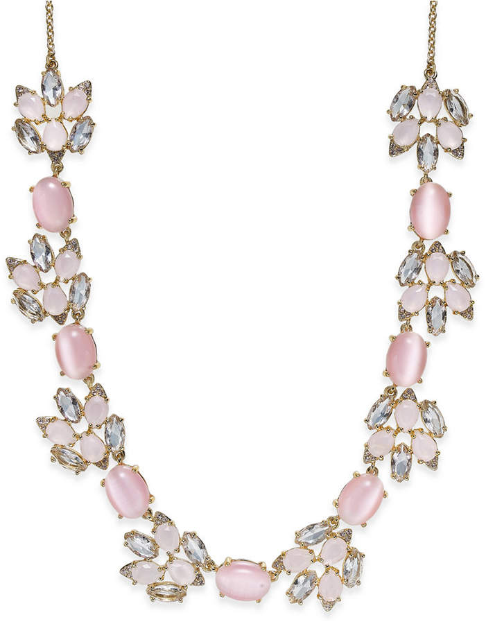 Kate Spade kate spade new york Gold-Tone Pink Stone and Crystal Collar Necklace