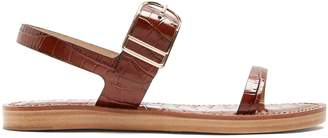 Dunhill GABRIELA HEARST crocodile-effect leather sandals