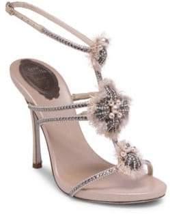 Rene Caovilla Embellished Ankle Strap Sandal