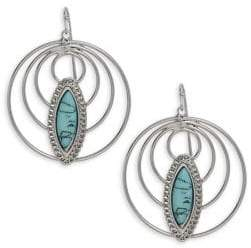 Lord & Taylor Design Lab Crystal Circle Drop Earrings