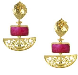 Ottoman Hands - Artemis Ruby Drop Earrings