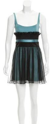 Jay Godfrey Tulle Overlay Mini Dress