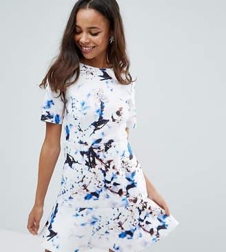 Asos Marble T-Shirt Scuba Pephem Mini Dress
