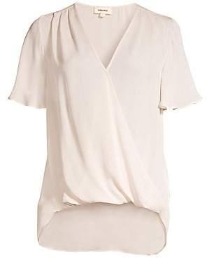 L'Agence Women's Karan Flutter Sleeve Silk Top