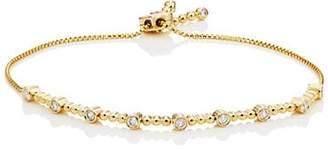 Sara Weinstock Women's Isadora Bezel Bolo Bracelet - Gold