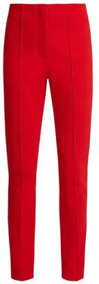 Diane von Furstenberg High Rise Skinny Stretch Crepe Trousers - Womens - Red