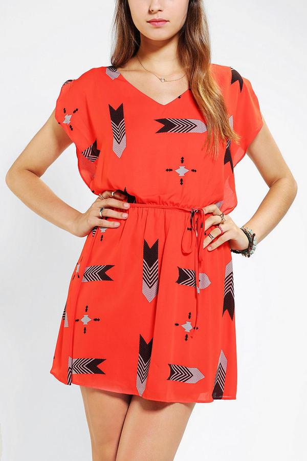BB Dakota Audrey Flutter-Sleeve Dress