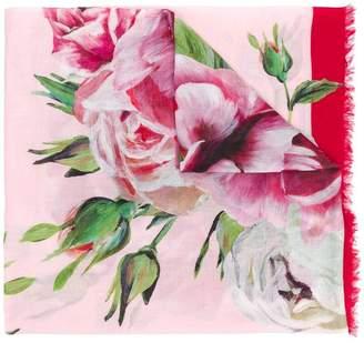 Dolce & Gabbana peony-print scarf